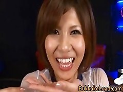 Cute babe Pine Shizuku gets cum drenched part3