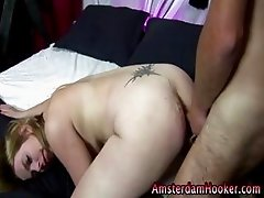 Blonde dutch hooker gets a cumshot