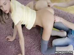 Two slim babes Cindy and Aimee threesome