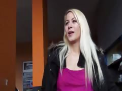 Real amateur Czech babe gets paid to have sex in public