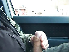 Public car stroking and cum