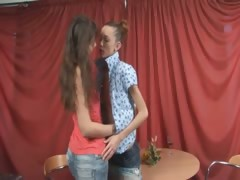 Super gaunt girls naked on the table