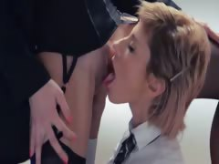 Neverending strap-on girlsongirls action