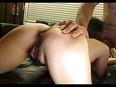 Hairy pussy fuck and blowjob
