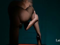 Luxury glamour masturbating in pantyhose