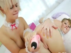 Blonde princesses anus acrobats