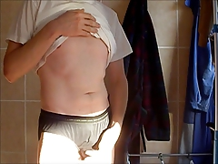 Me in silky polyamid underwear.Brand : DIM