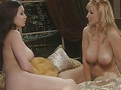 Busty Aria Giovanni gorgeously naked with her girlfriend