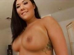 Asian slut enjoying a naughty triple penetration