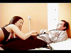 Asian and white fucking in bedroom