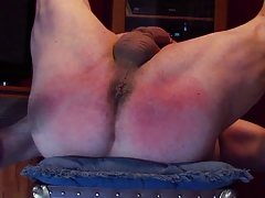 1st Self Spanking Legs Up Diaper Position