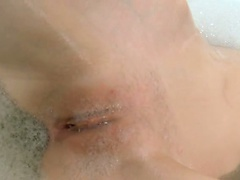 italian super skinny girl in the shower