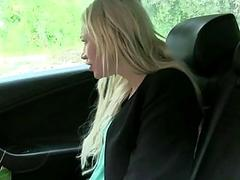 Blonde beauty Lindsey fucked with driver