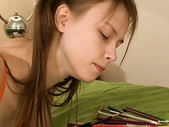Nasty homework of fine teenager