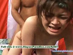 Yuzuru superb japanese girl enjoys getting from the rear