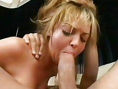 Teenie bopper Jessie Summers gags on beefy cock pushing down throat