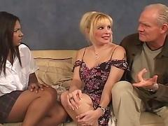 Lovely Busty Babes Serving Grandpas Old...