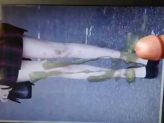 Karen Gillan sexy legs cumshot