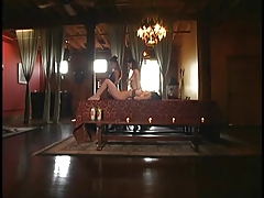 Slut getting whipped on the bench