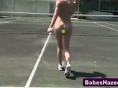 Teen lesbians hazed outdoors