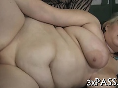 Huge dick for sexy overweight