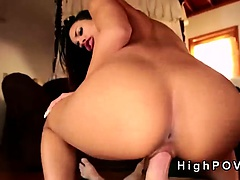 Stunning Cuban babe with perfect ass fucking POV