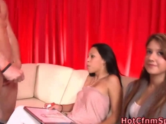 Cfnm babes judge a masturbation contest