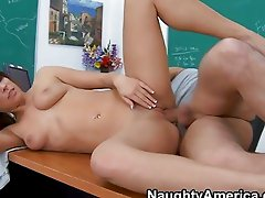 Sexy student humping the teaxher in the classroom