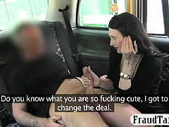 Amateur busty slut pussy pounded for a free cab fare