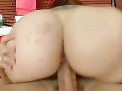 Randy Rebecca Lane rides her twat on a massive fuckstick
