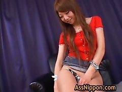 Ana Oshirino in horny Asian threesome part1