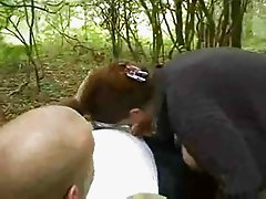 Chubby Chick Fucks In The Woods