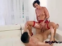Sexy Babe Jada Stevens Straddles Fitness Instructor