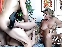 Wild milfs share cock and gets off on the hard thrusts