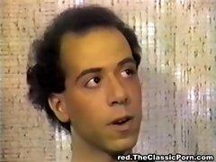 Small tittted ebony seduces man
