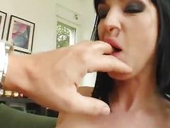 Cecilia Vega and Wendy shares a load of cum after hardcore sex on Sperm Swap