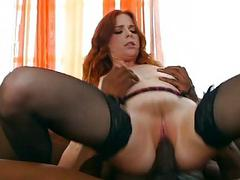 Huge black surprise for one hot redhead wife