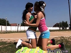Hot brunette squirt Sporty teens munching each other