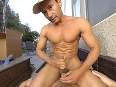 Gay VR PORN - Ourdoor ass fuck with a hot stud Gabriel