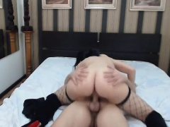 Tied brunette babe gives blowjob