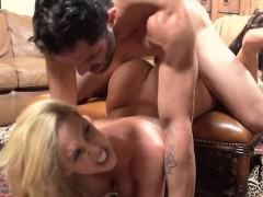 Real picked up european blonde giving blowjob