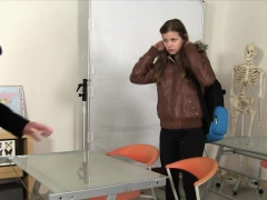 Spunky faced teen pounded