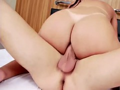 horny big ass ts aline tavares wiggles her cock and gets ass fucked