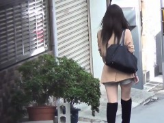 Asian babes gush urine