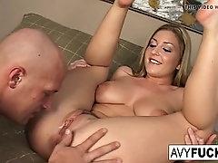 avy scott invites her boy toy over for a little joy of her