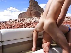 PAWG chick bends over for drilling and receives a creampie