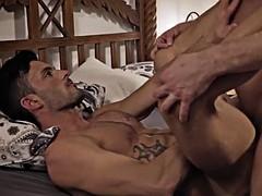 big dick gay bareback with facial