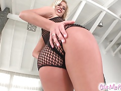 Give Me Pink Newcomer horny blonde greedily rides large