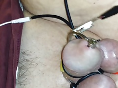 Electrosex Cum Shot with thru hole penis plug