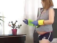 Pregnant Lina Takes a Break to Play with Her Pussy